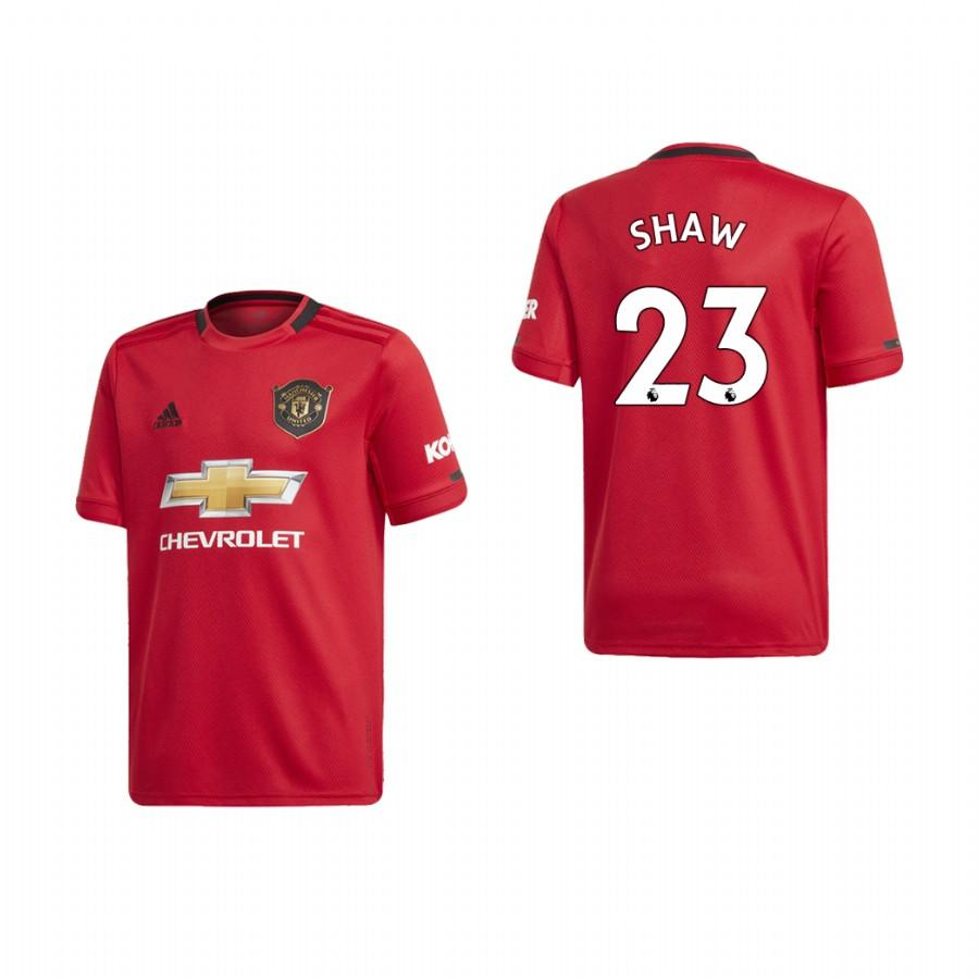 Youth Manchester United 19-20 Luke Shaw #23 Home Jersey - Red - XXS