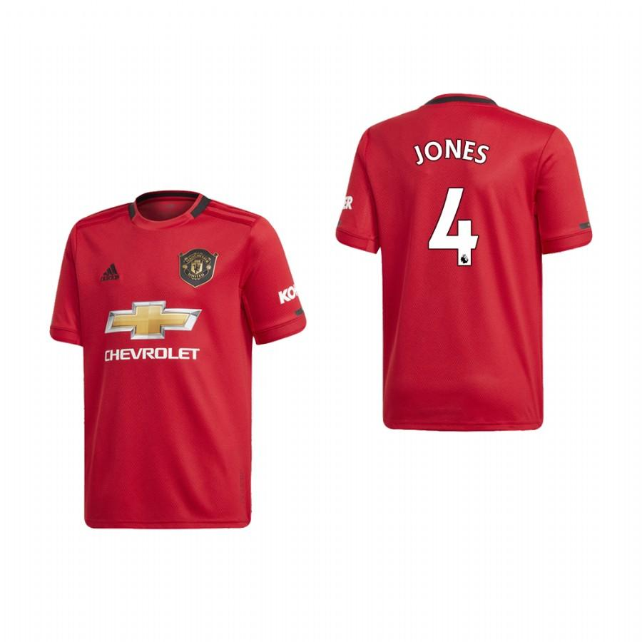 Youth Manchester United 19-20 Phil Jones #4 Home Jersey - Red - XXS