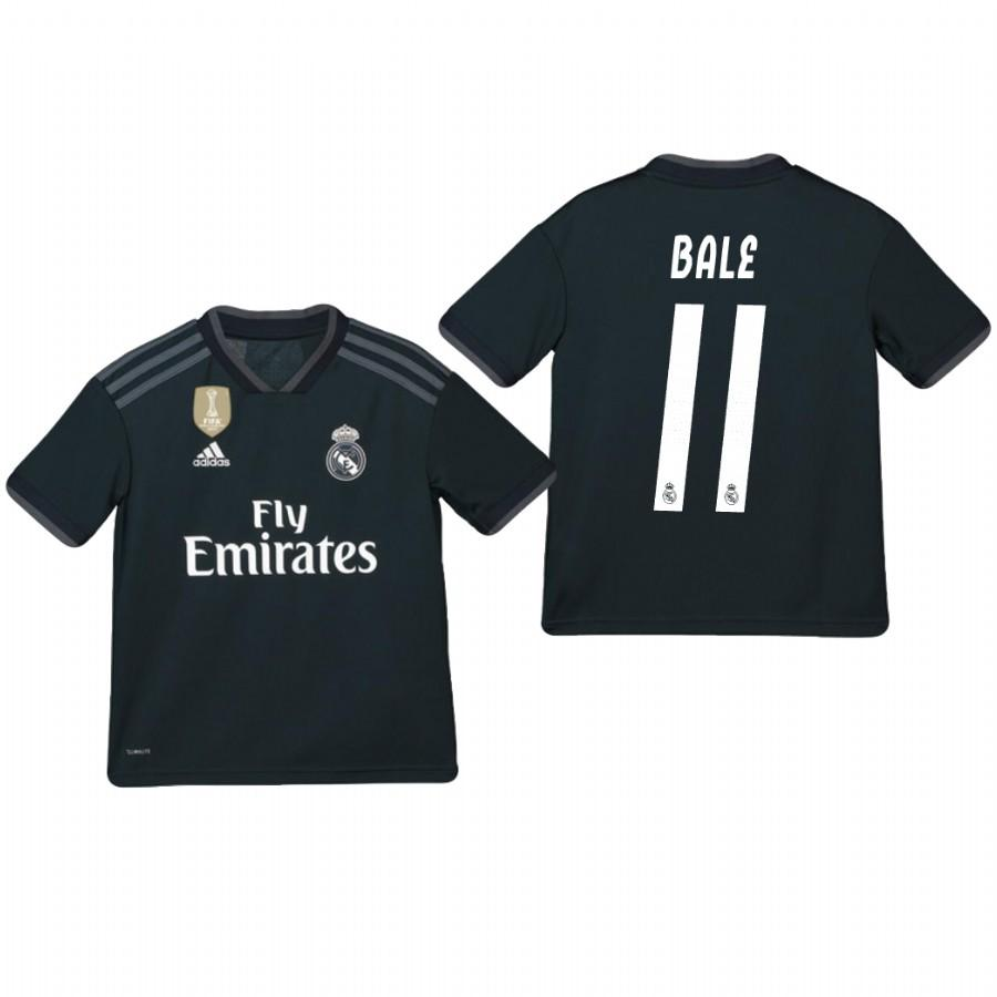 Youth Real Madrid 18-19 Dark Navy Gareth Bale #11 Away Jersey - XXS