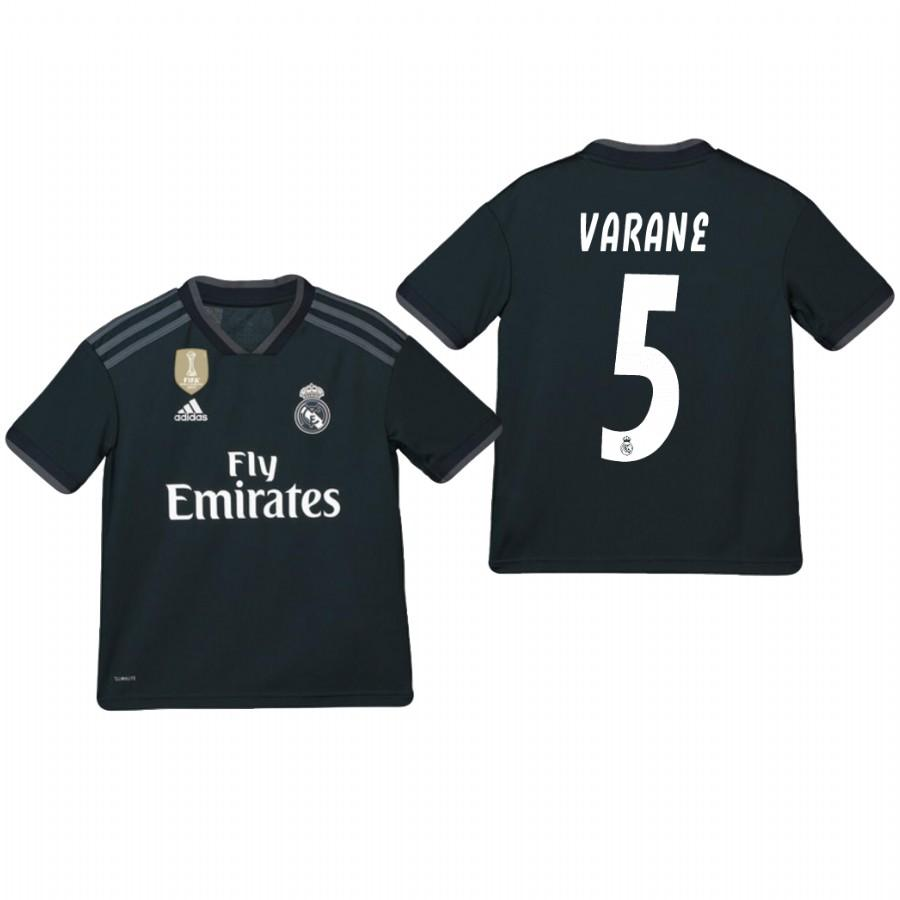 Youth Real Madrid 18-19 Dark Navy Raphael Varane #5 Away Jersey - XXS