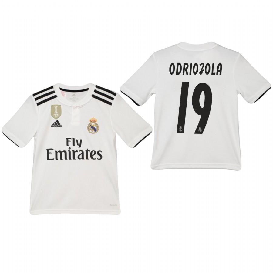 Youth Real Madrid 18-19 White Alvaro Odriozola #19 Home Jersey - XXS