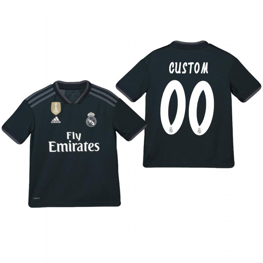 Youth Real Madrid Custom 18-19 Dark Navy Away Jersey - XXS
