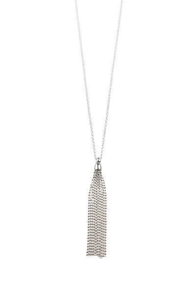 Luna Drop Necklace - Silver