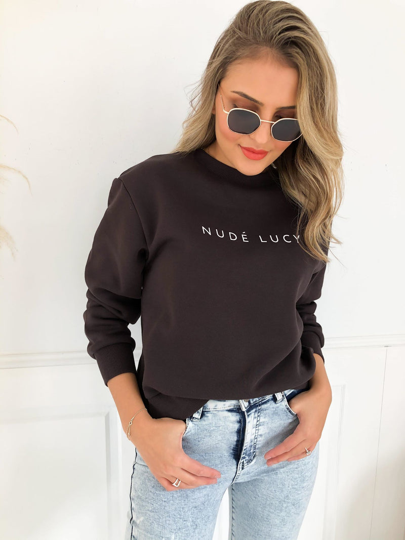 Nude Lucy Slogan Sweat - Black
