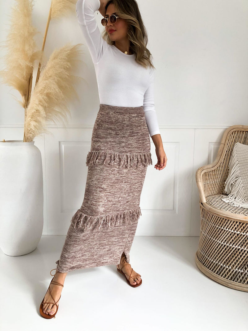 Lauren Knit Skirt - Mocha