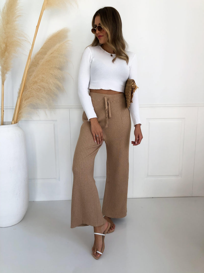 Ascend Wide Leg Pant - Mocha
