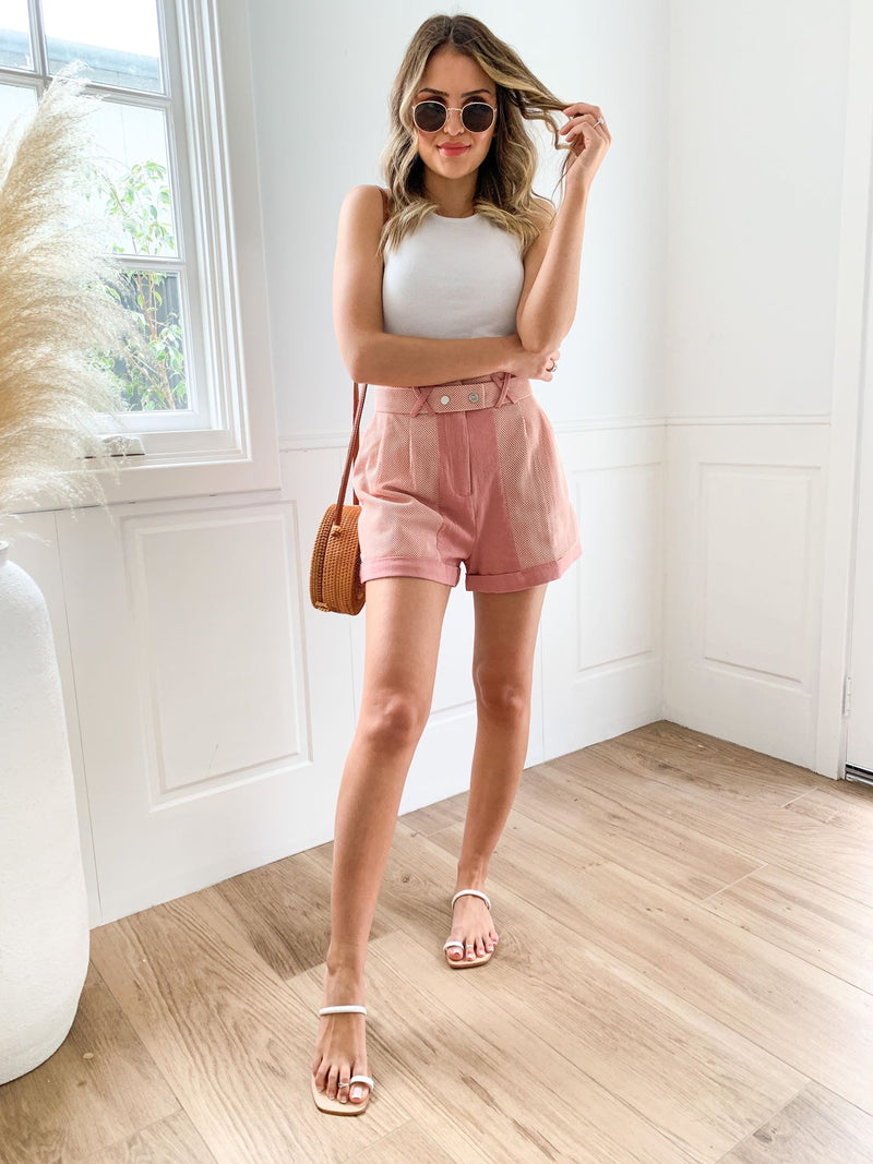 Berry High Waisted Shorts