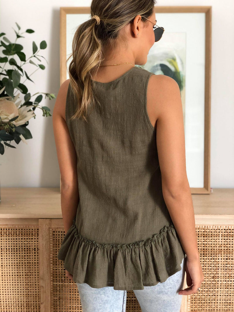 The Sails Tank - Khaki