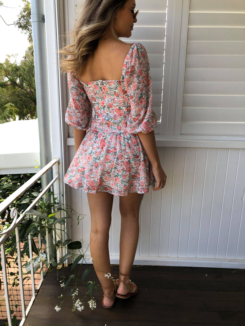 Take Me There Dress - Peach