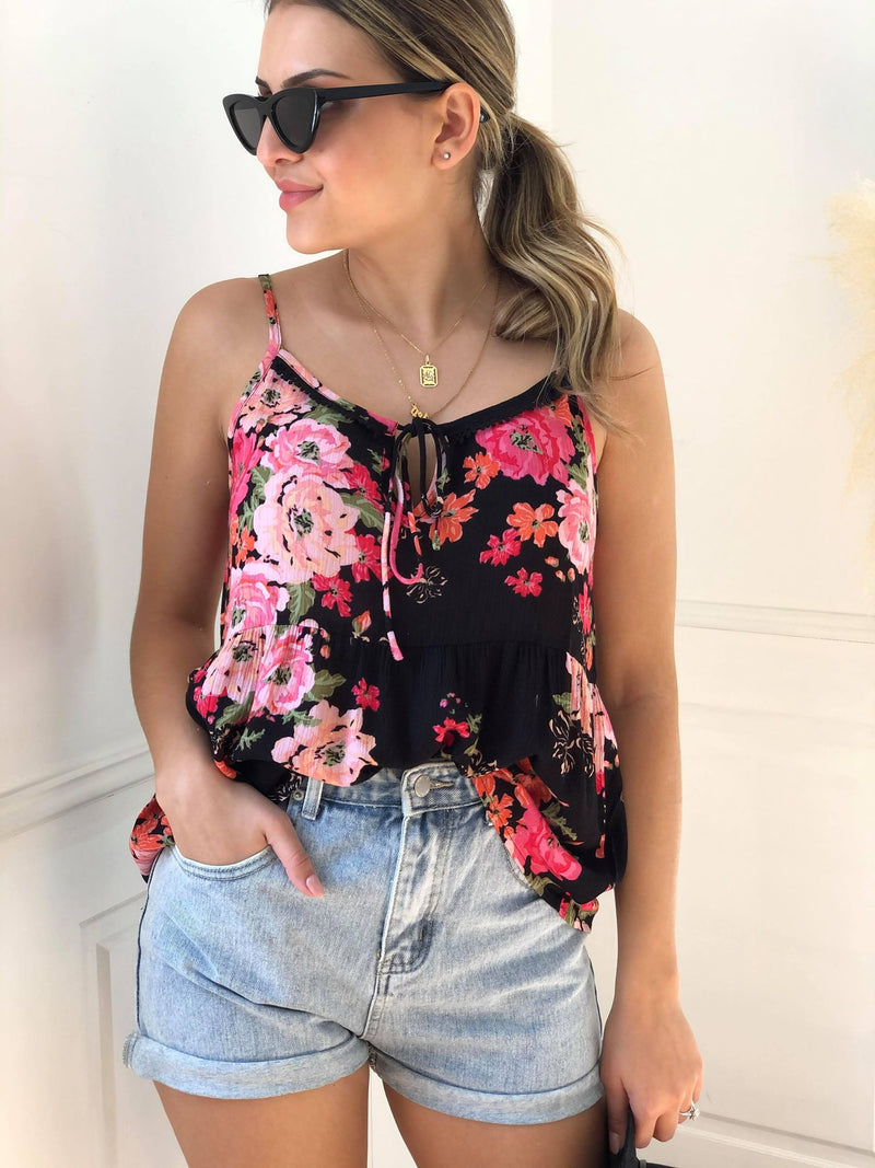 Ivy Palm Tank - Floral