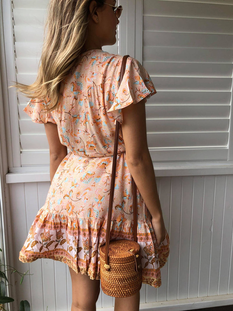 Auden Dress - PEACH