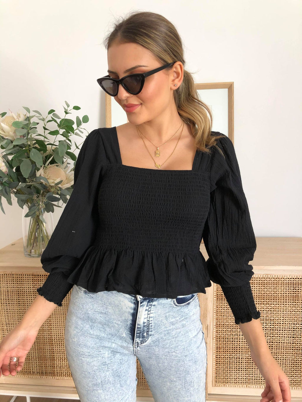 Meya Top - Black