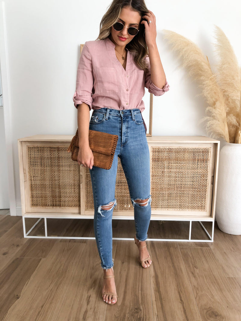Santa Cruz Linen Shirt - Blush