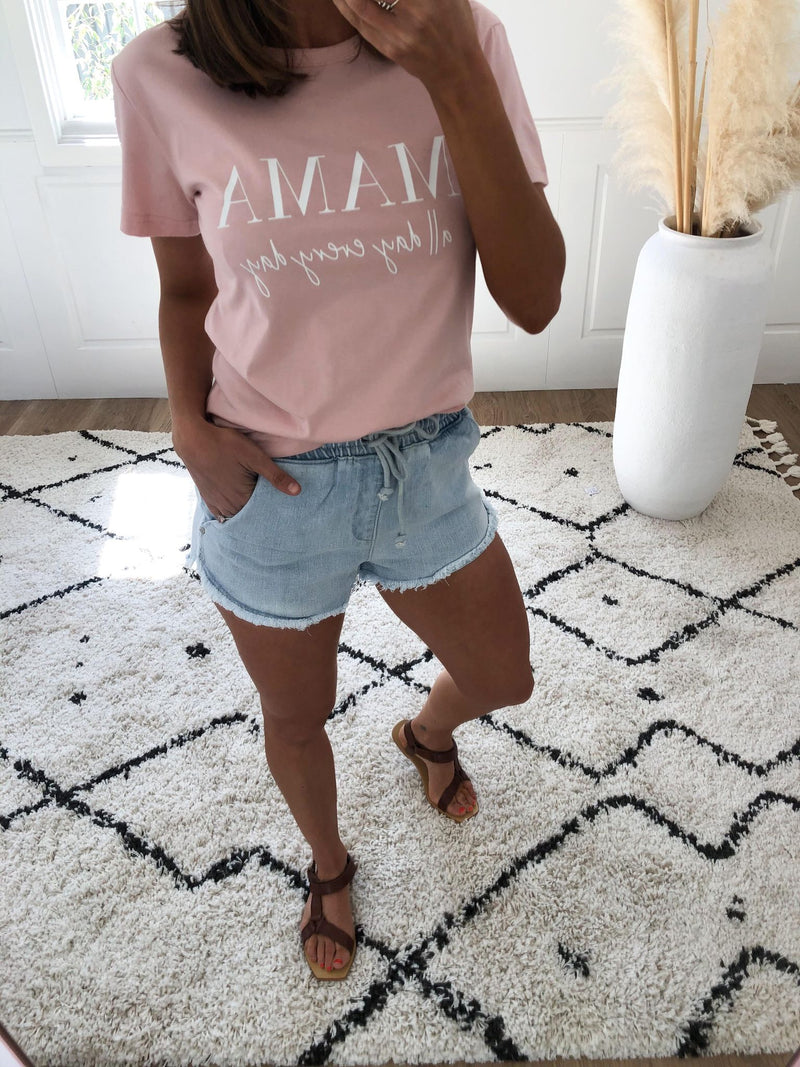 Mama All Day Tee - Pink