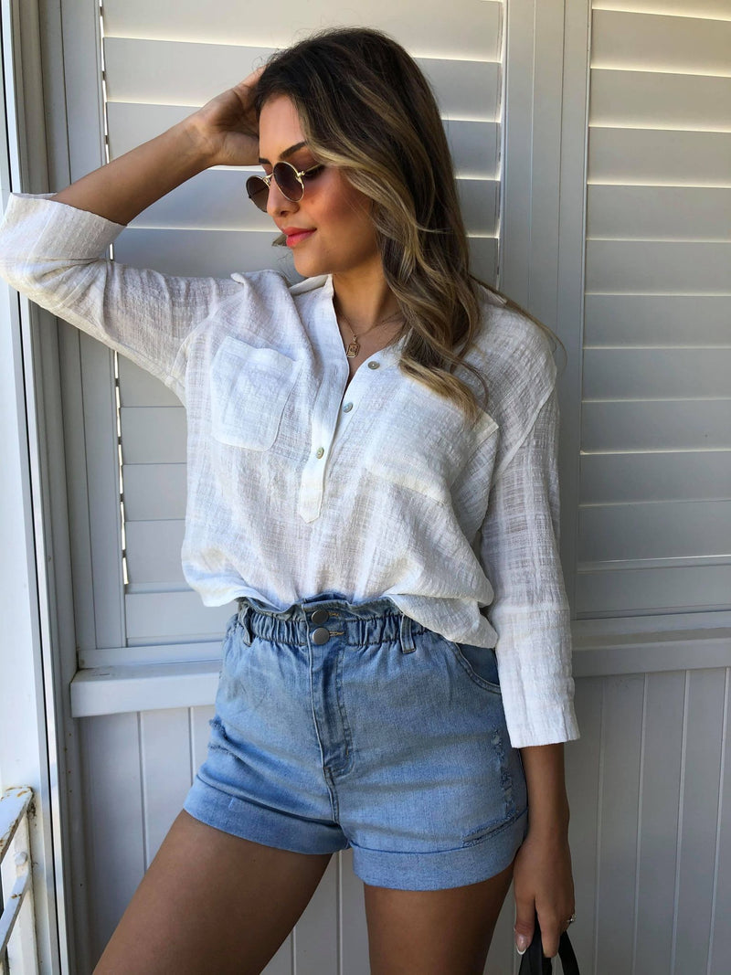 Lazy Sunday Shirt - White