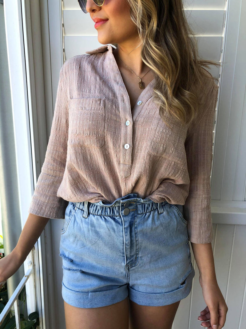 Lazy Sunday Shirt - Nude