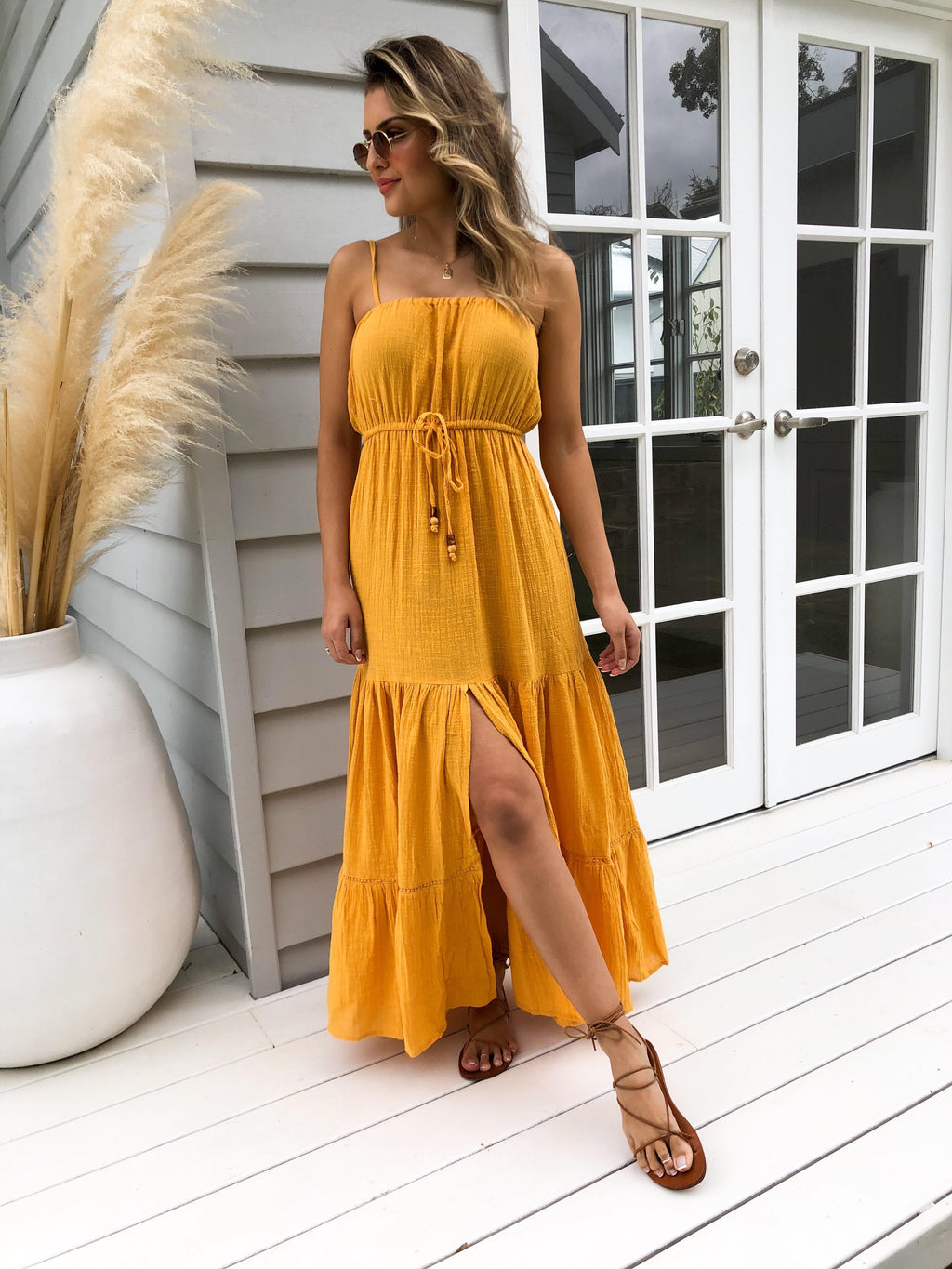 Sunwalker Tiered Maxi Dress