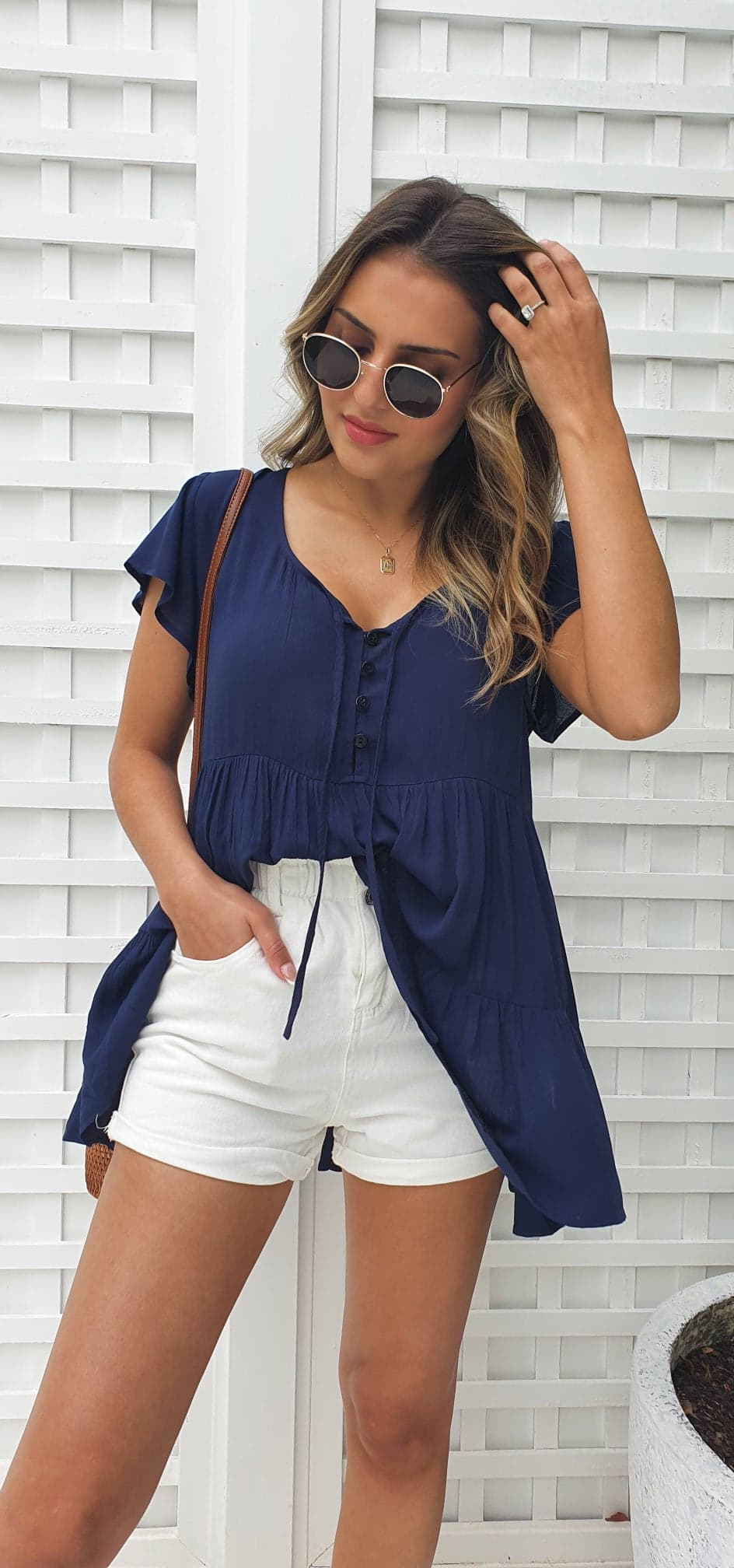 Montego Top - Navy