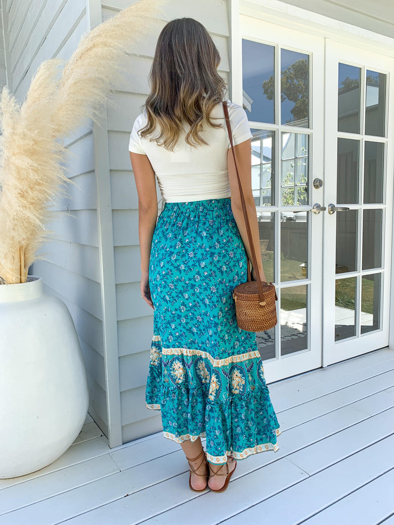 Iridescence Midi Skirt