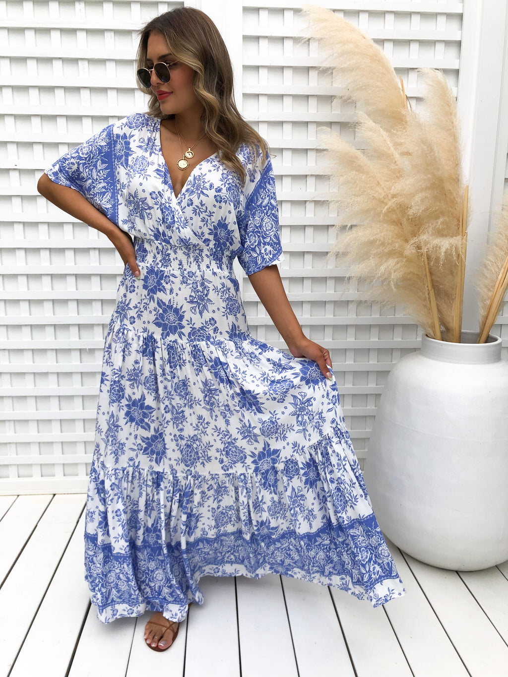 Veronika Maxi - Blue