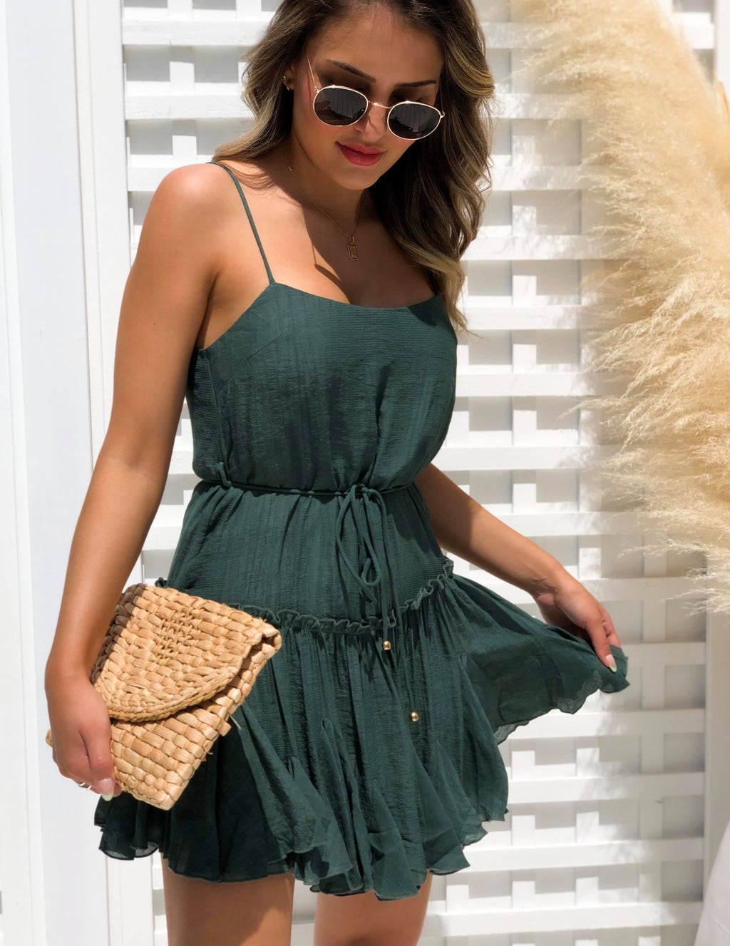 Herrison Dress - Emerald