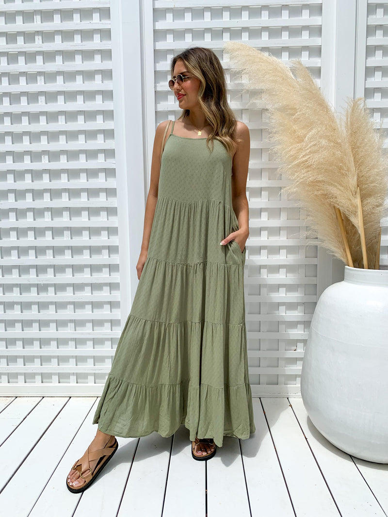 Dayla Dress - Khaki