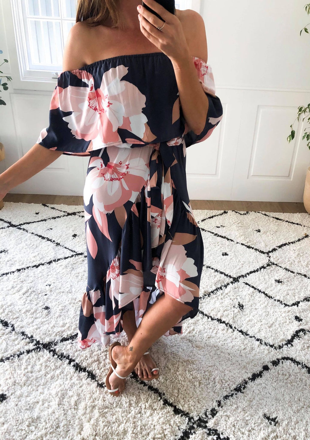 Pippa Dress - Navy floral