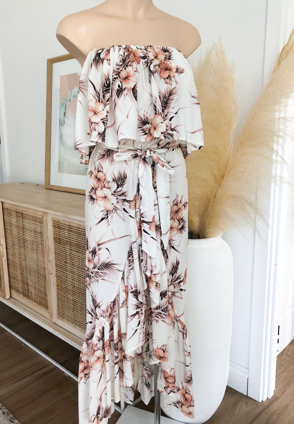 Pippa Dress -  White floral