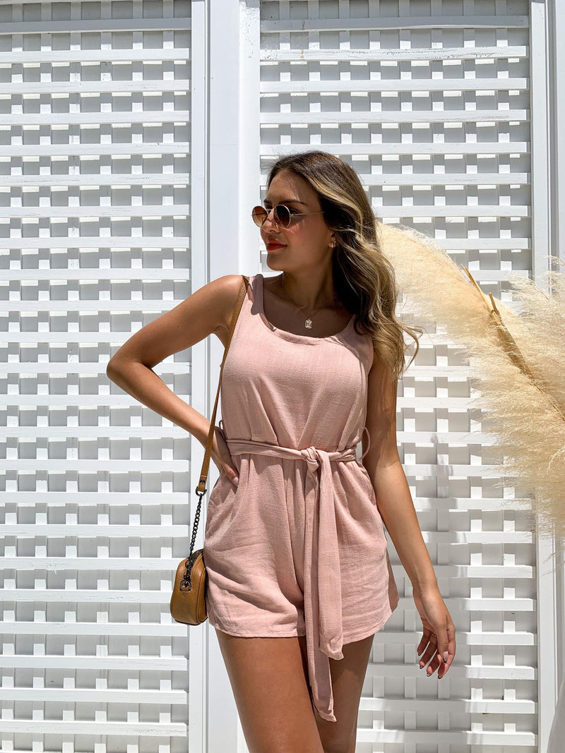 Cece Playsuit - PEACH