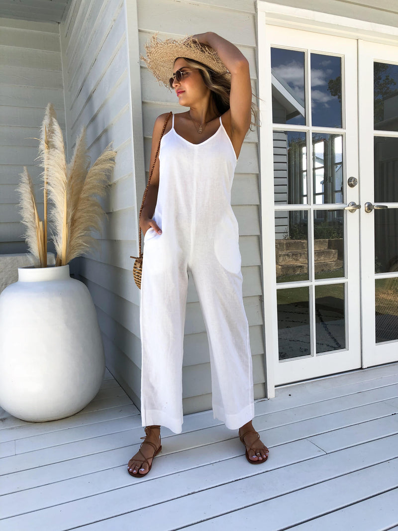 Drew Jumpsuit - White