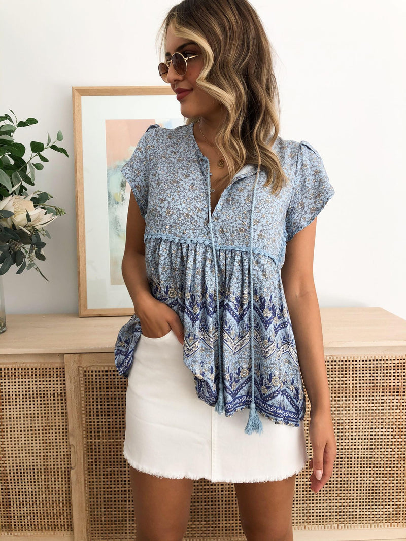 Riverside Print Ella Top