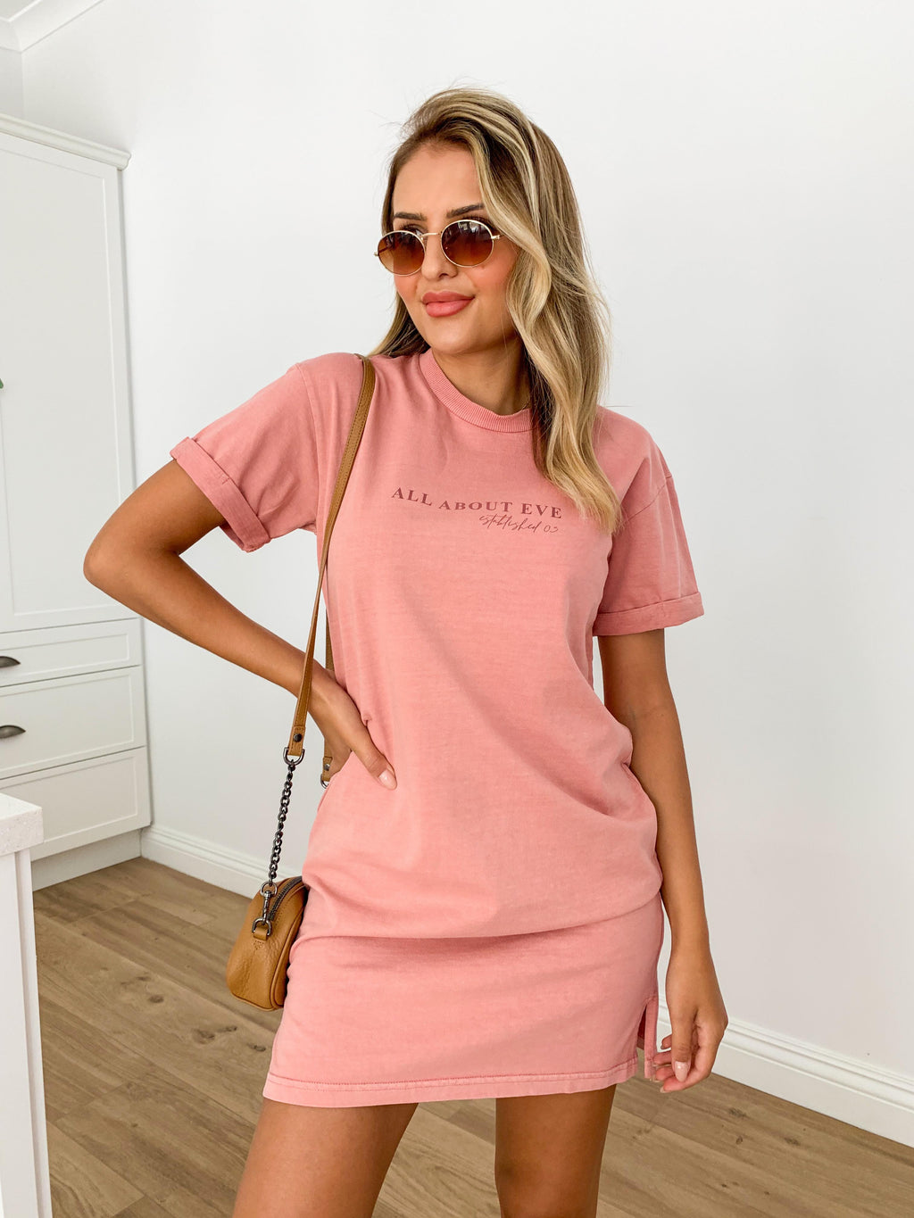 All About Eve Washed Tee Dress - Plum