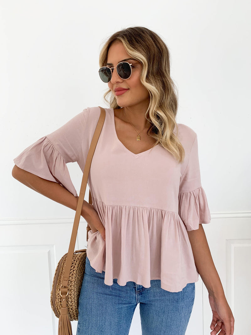 Cholita Blouse - DUSTY PINK