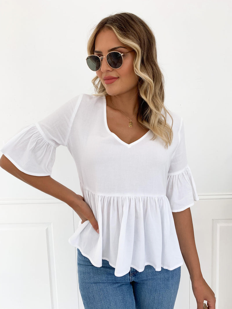 Cholita Blouse - WHITE