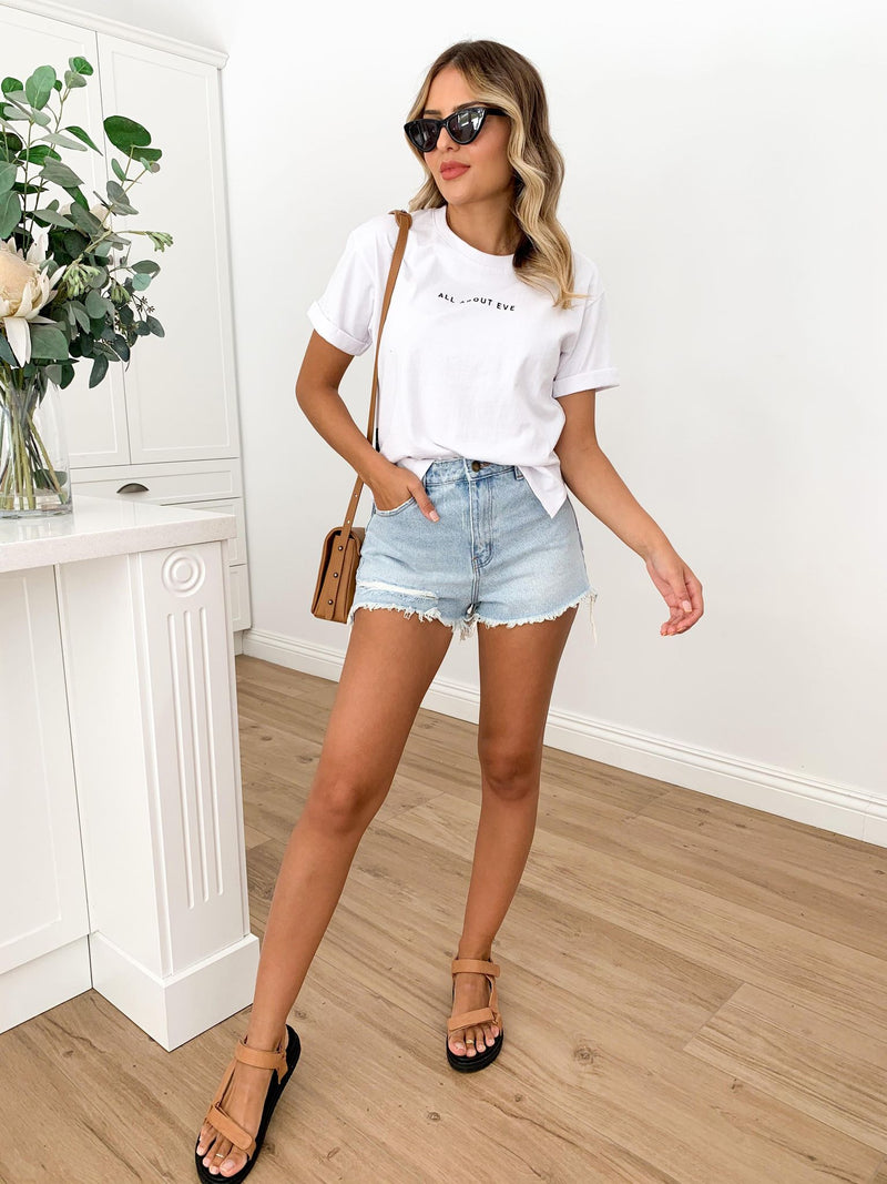 All About Eve Washed Tee - White