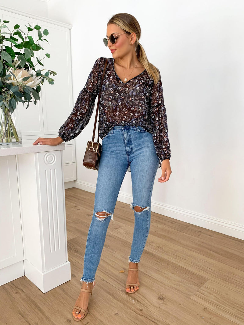 Mara Blouse - Midnight Floral