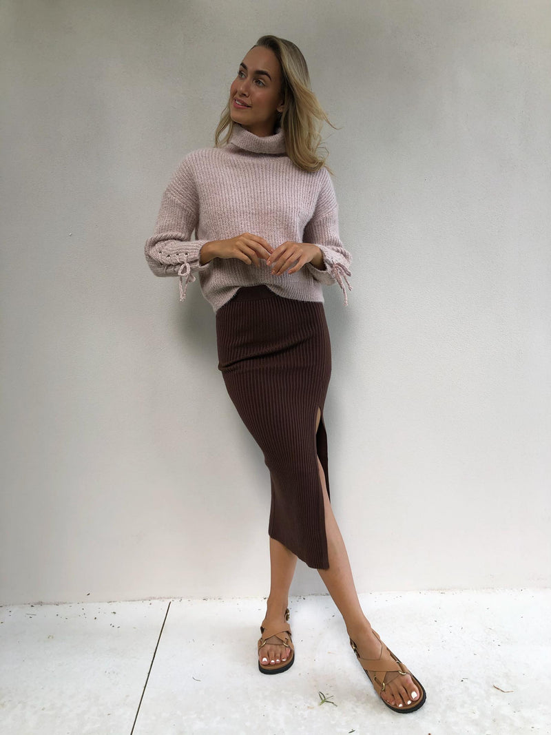 Quinn Skirt - Chocolate Brown