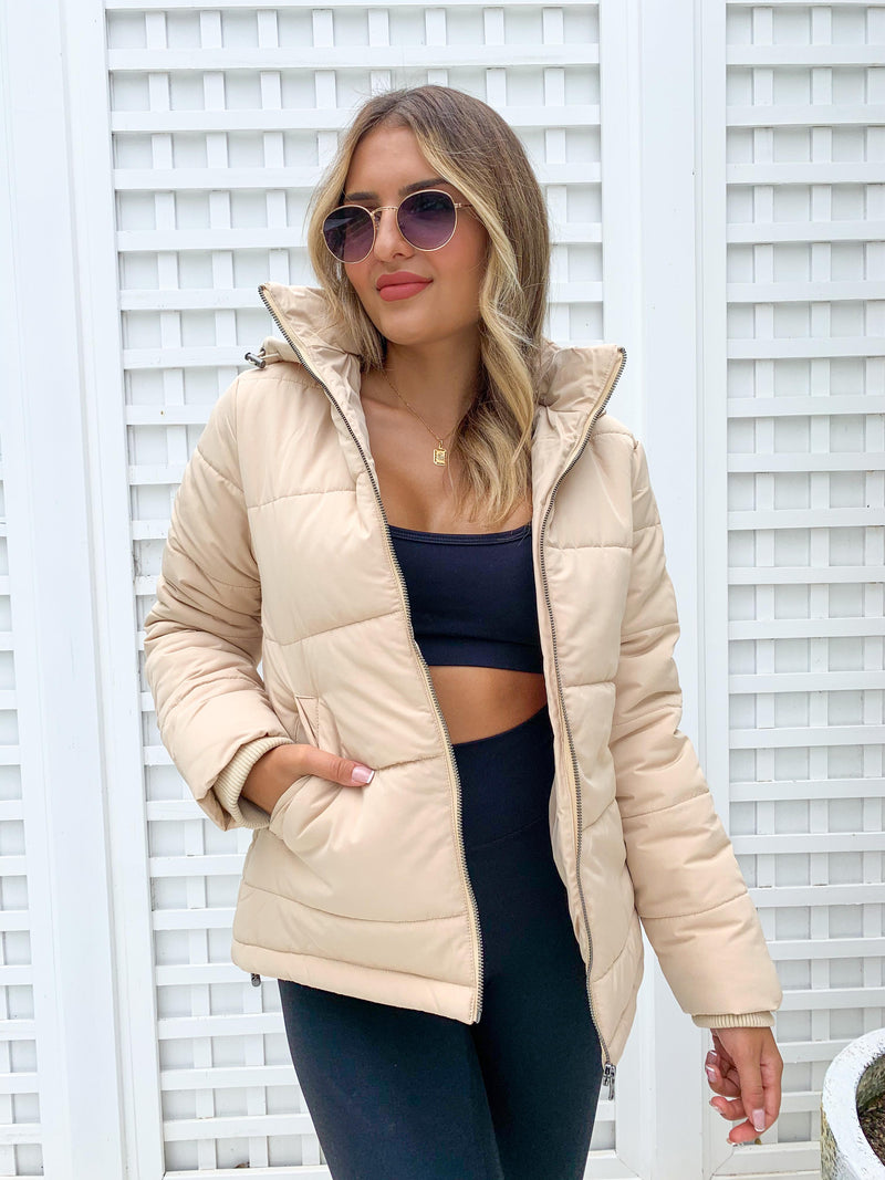 All About Eve Essential Puffer Jacket - Cream