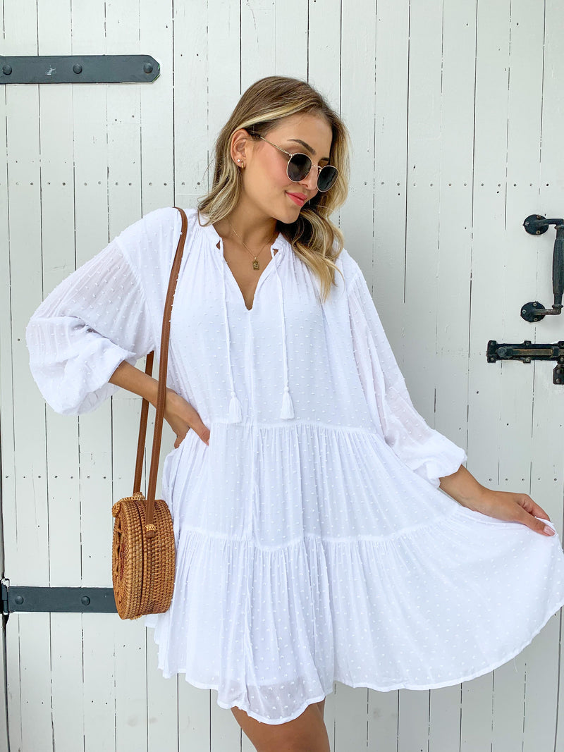 Hattie Dress - White