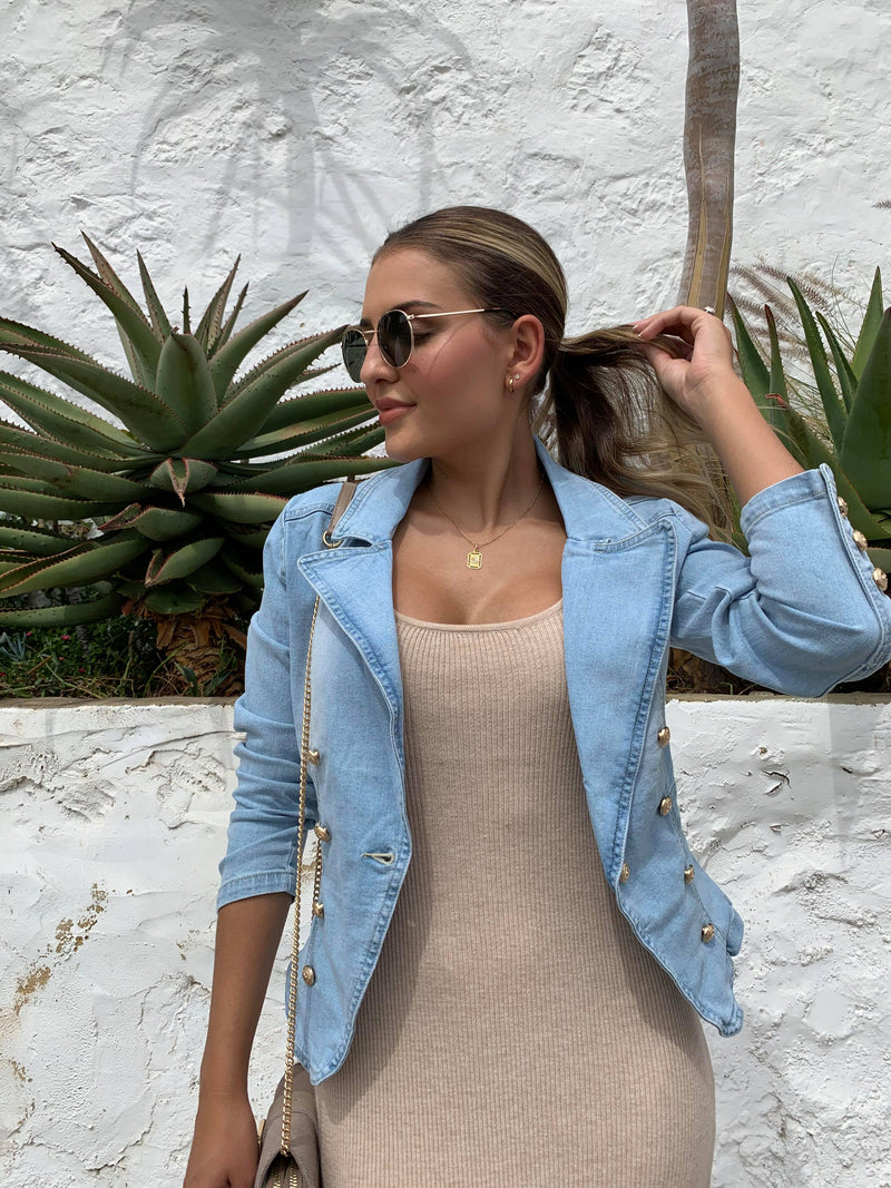 Penny Denim Blazer