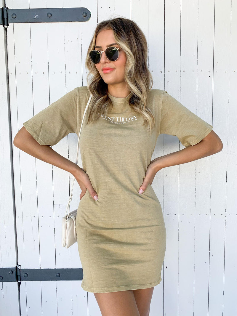 The Valley Tee Dress - KHAKI BROWN