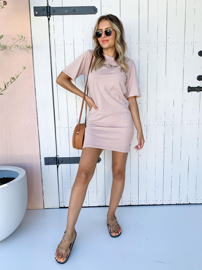 The Valley Tee Dress - DUSTY PINK