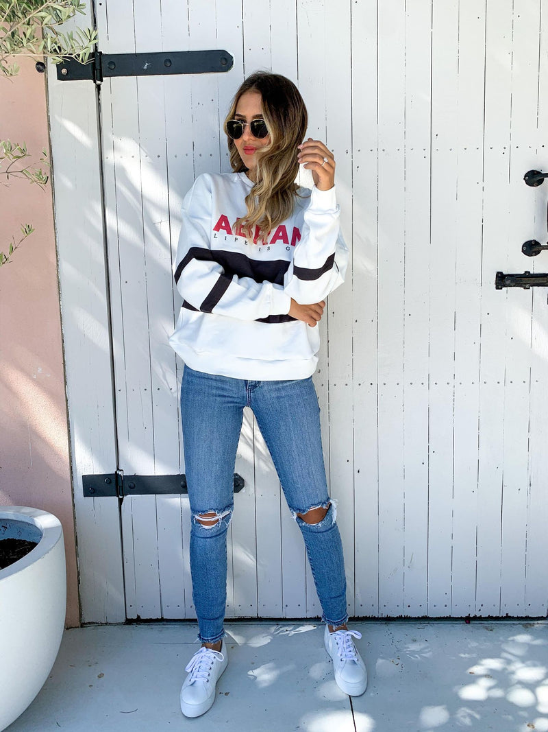 Oversized Panelled Sweater