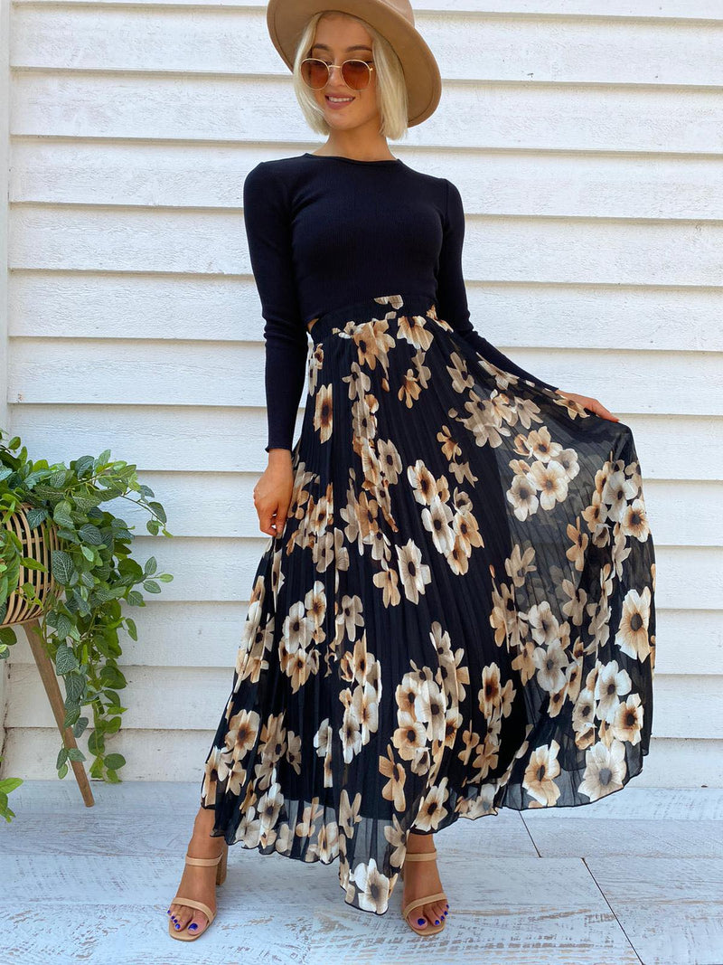 Alias Pleated Skirt - Floral