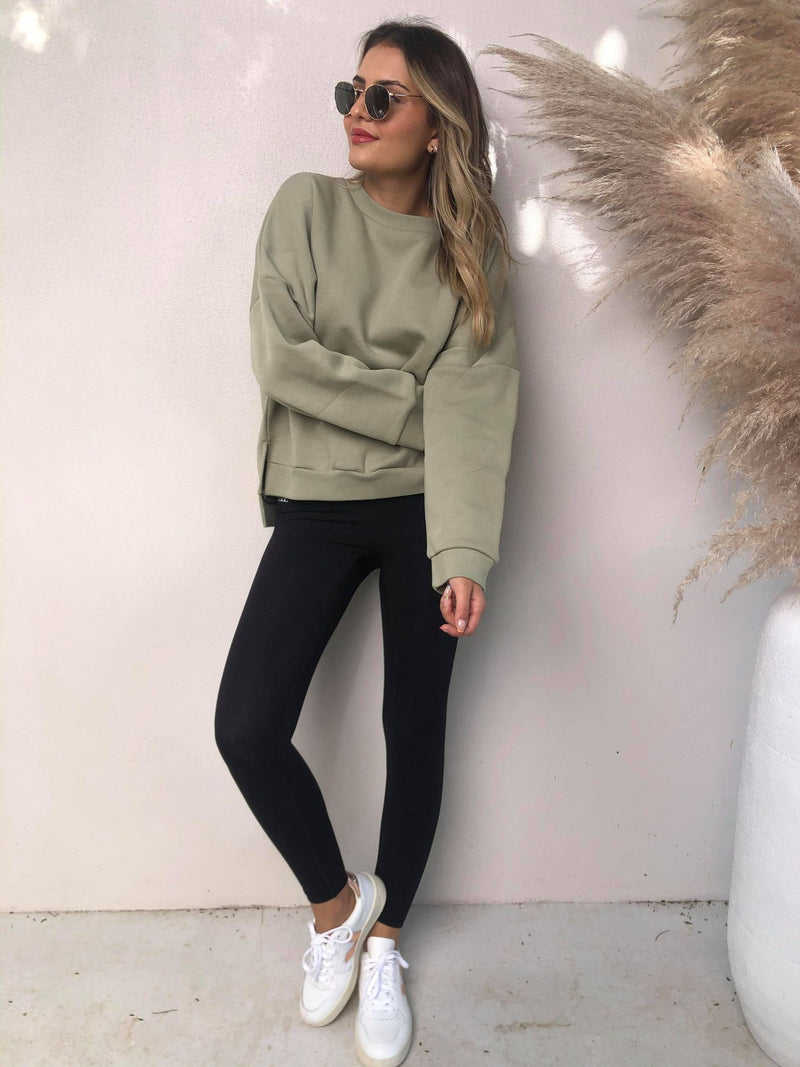 Carter Classic Oversized Sweat - Washed Sage