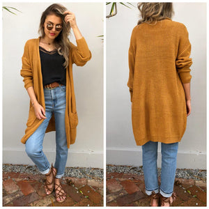 Tilly Knit Cardigan - Mustard