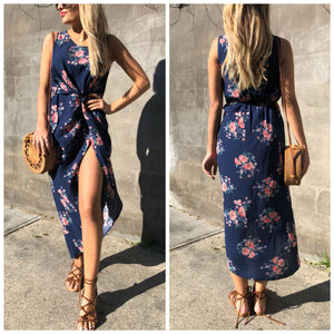 Coco Summer Dress - Navy Floral