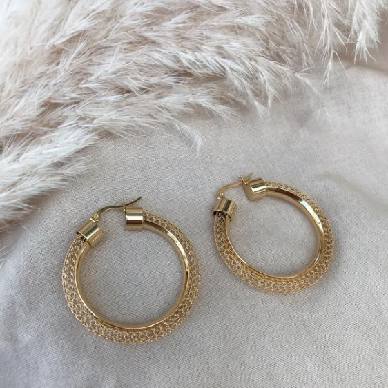 KITSENSE | PARIS LARGE MESH HOOPS