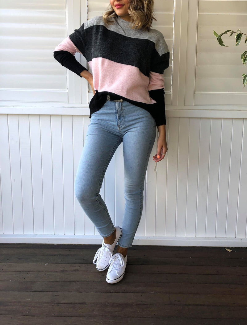 Virgo Two Toned Knit - Pink