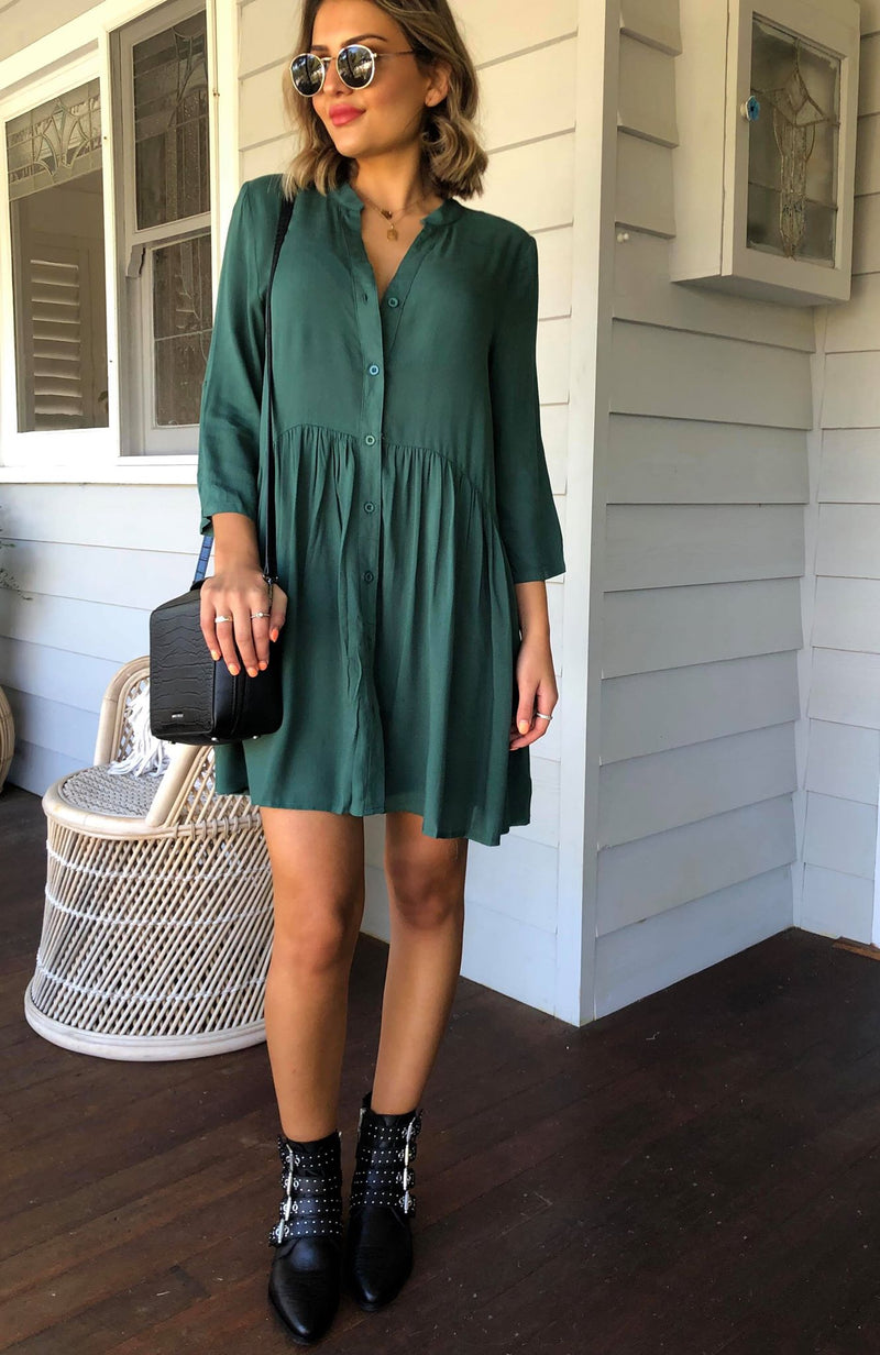 Imprez Dress - Forrest Green
